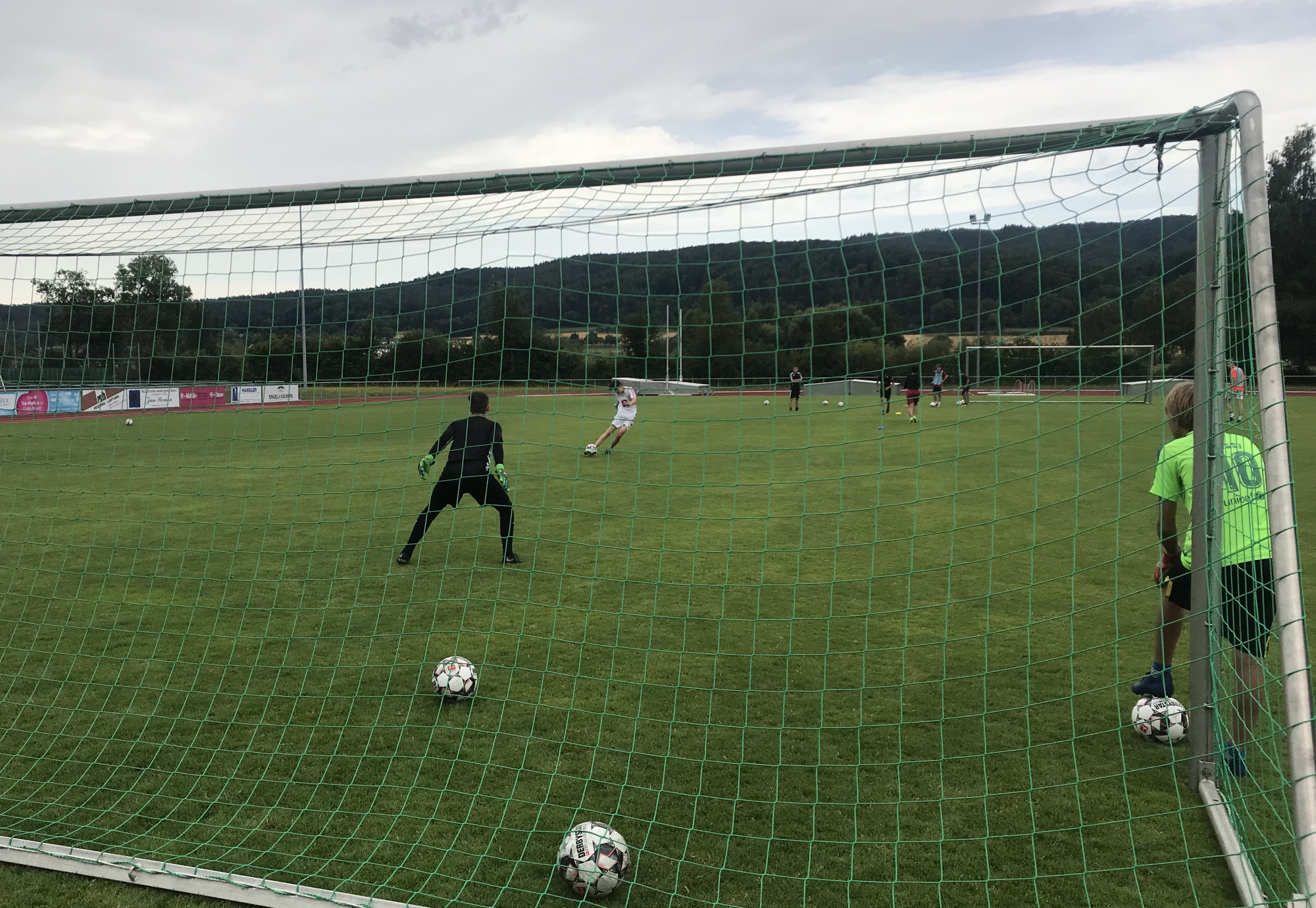 Trainingseinheit am Samstagmorgen